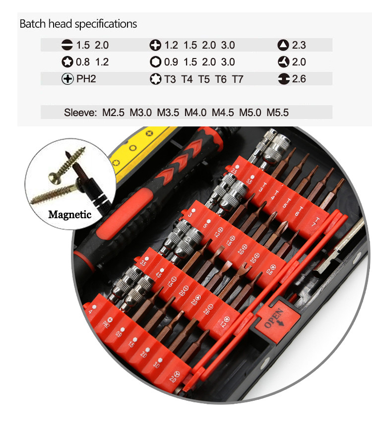 China Wholesale High Quality Laptop Mobile Phone Repair Hand Tool Kit Set, 38Pcs Precision Multi Screwdriver Set