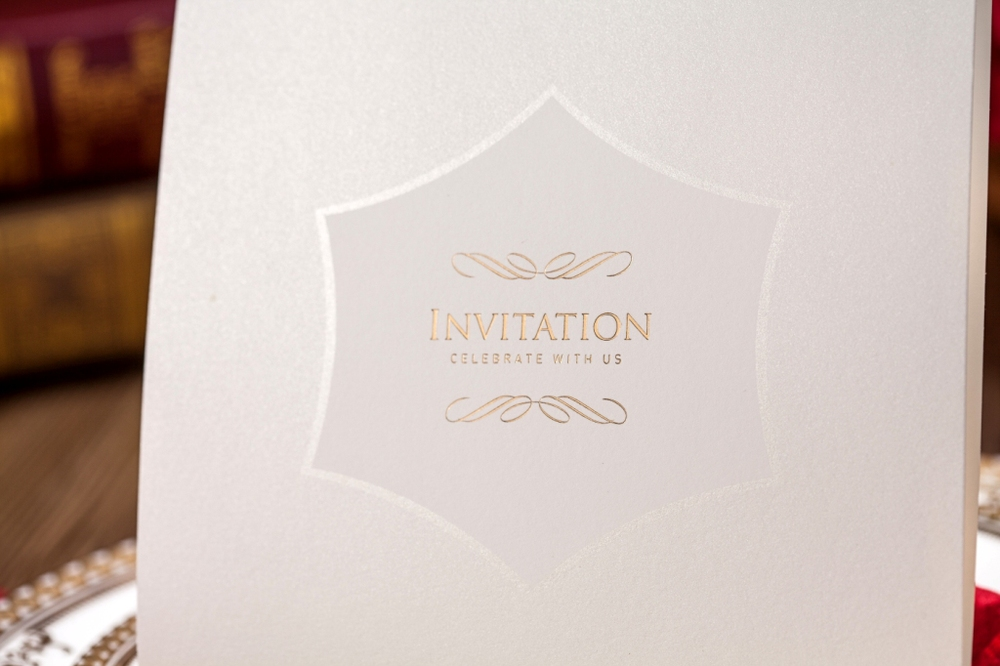 wishmade white embossed wedding invitation cards cw5055, View ...