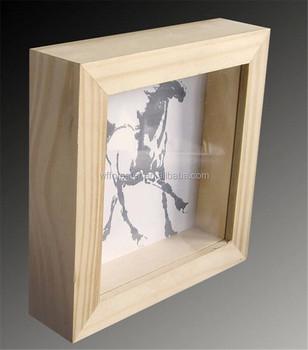 Classical Deep Wooden Photo Frame Wooden Shadow Boxes Wooden Box Frame -  Buy Wooden Box Frame,Wooden Box Frame,Wooden Box Frame Product on  Alibaba com