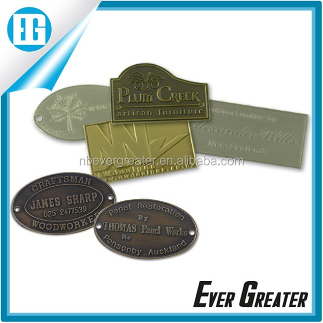 Custom metal clothing label maker, printed brand label for clothing