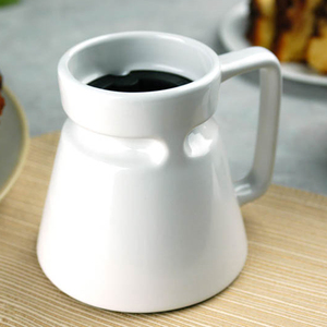 China Manufacturer Custom Wide Bottom Coffee Mug Base Ceramic Travel