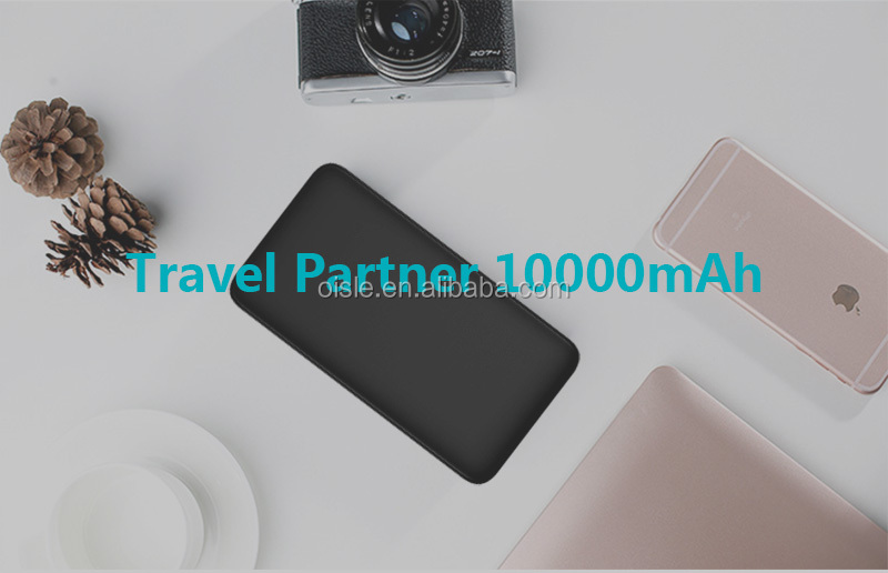 Qualcomm Quick Charge 3.0 Power Bank 10000mAh Li-Polymer Battery Portable Power Bank for wholesale