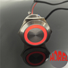 22mm ring illuminated metal push button