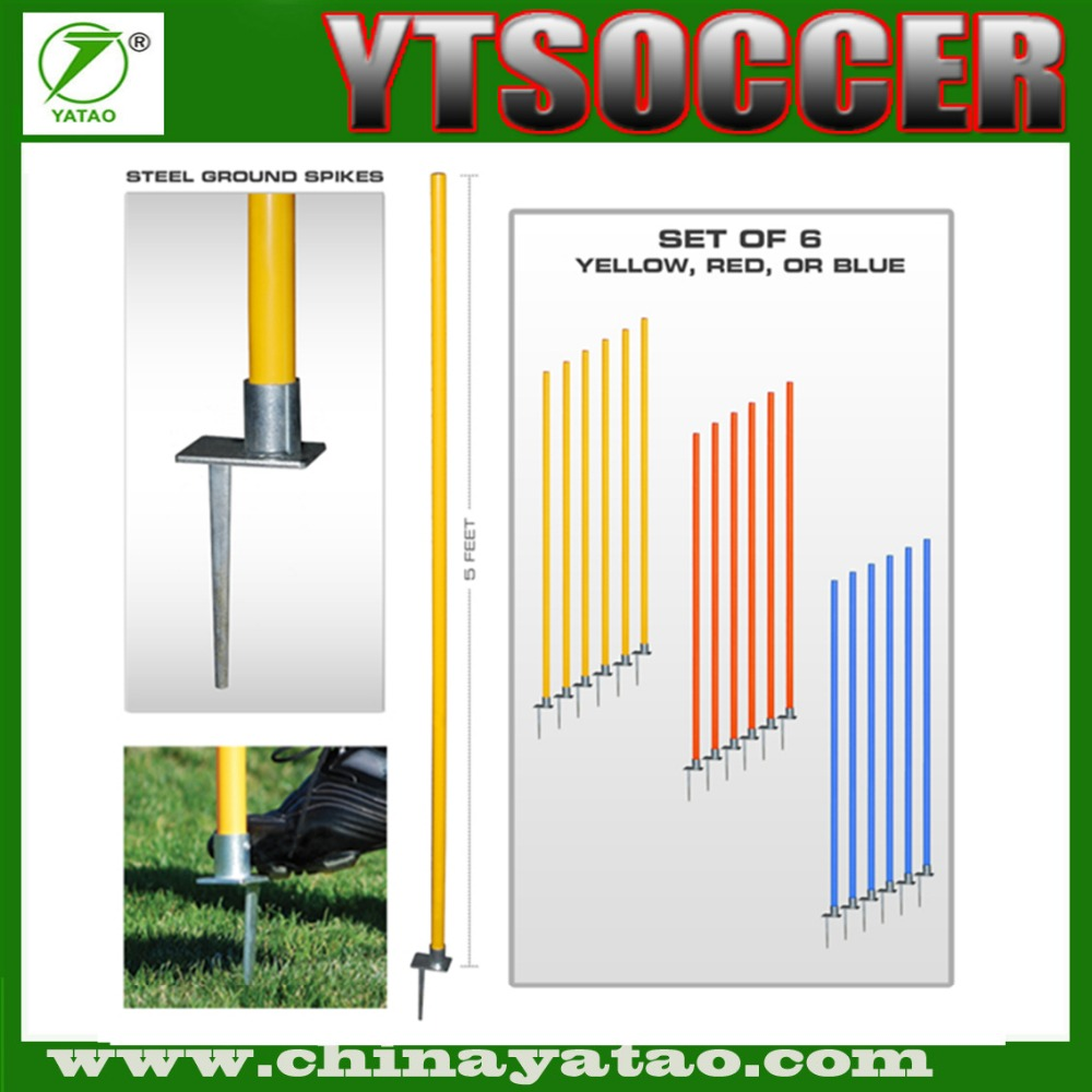 Soccer Training Agility Coaching Sticks Pole with Spikes