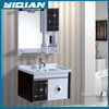 2016 New Design Modern wall White Black PVC Bathroom Cabinet Vanity