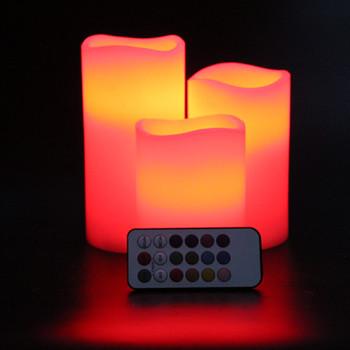 Electric Led Birthday Light Flameless Pillar Candle Led
