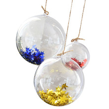 Christmas Tress Decorations Ball Transparent Open Plastic Clear Ornament Christmas Tree Decorations Xmas Supplies