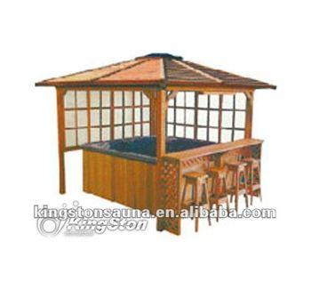 Hot Sales Outdoor Spa Garden Whirlpool Gazebo Bar China