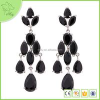 Black Diamond 18k Gold Plated Party Wear Earrings For Girls Jewellery