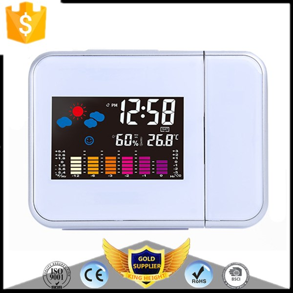 KH-0123 Digital Projection Alarm Weather Station LED Clock