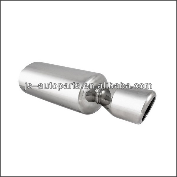T304 Polished Stainless Steel Inlet 2.5 Outlet 3.5 Tip Length 23.7 SS Exhaust Muffler