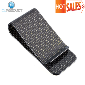 Multifunctional Carbon Fiber Wallet Money Clip and Card Holder Credit Card Holder Zip Clip Money Clip with Difference Color