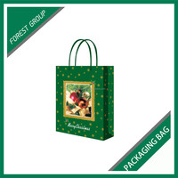 FREE SAMPLE ART PAPER CHRISTMAS GIFT PACKING BAG WITH HANDLE