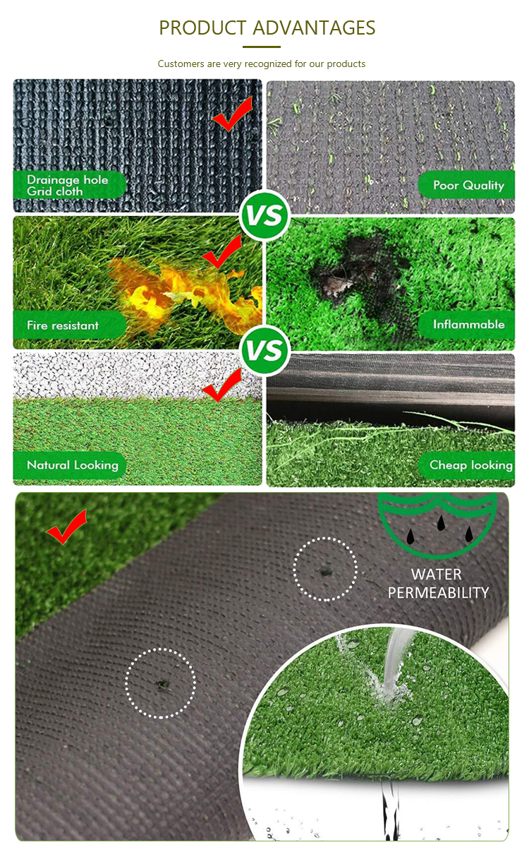 Professional high quality artificial grass football field