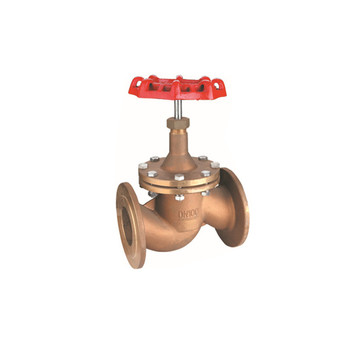 bronze flange globe stop valve with handle