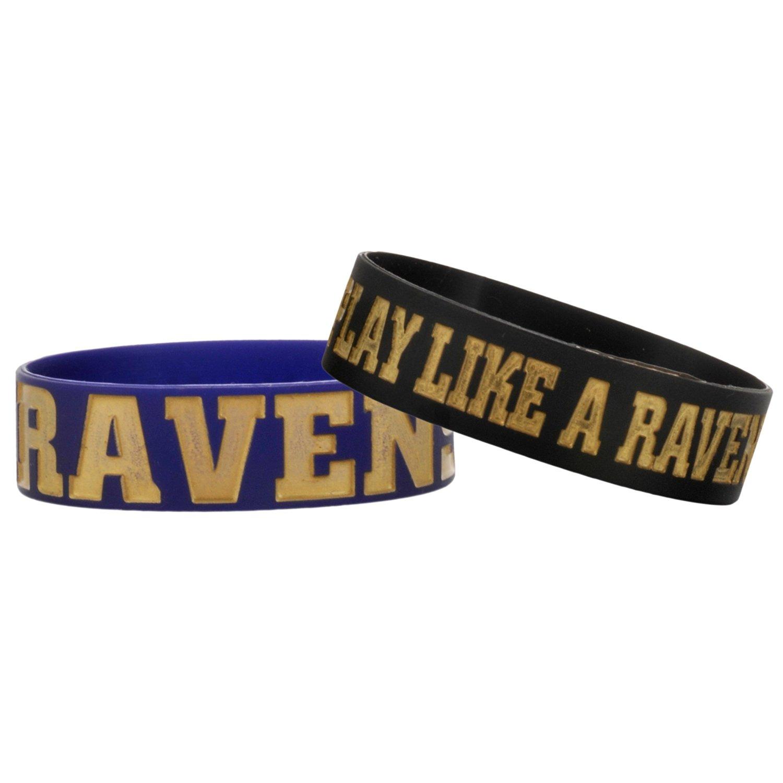 NFL Baltimore Ravens Bulky Bandz Bracelet 2-Pack