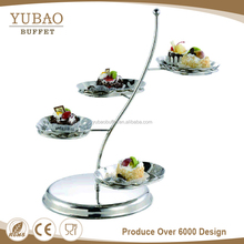 2017 beauty buffet equipment decorative Tree shape metal pastry tray stand/ display