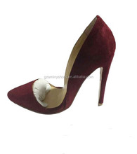 Women newest pure red bridal party wedding sexy high heel dress women shoes