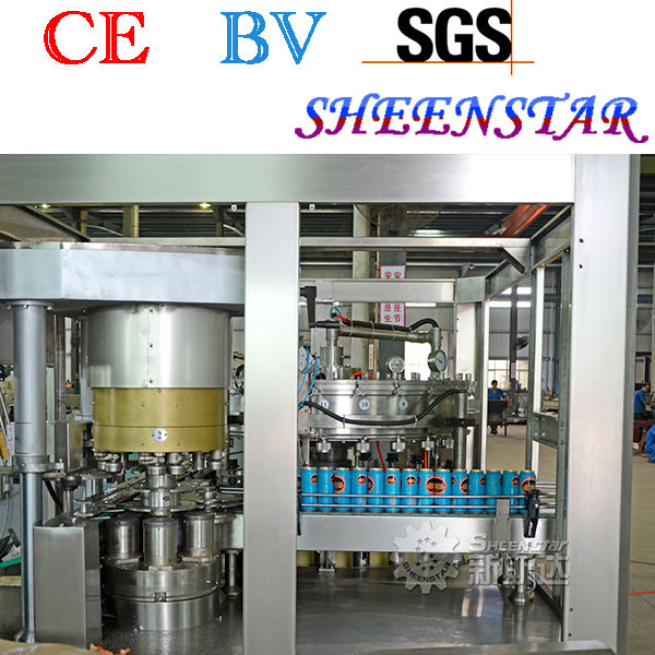 Chinese good quality pop can filling and sealing machine