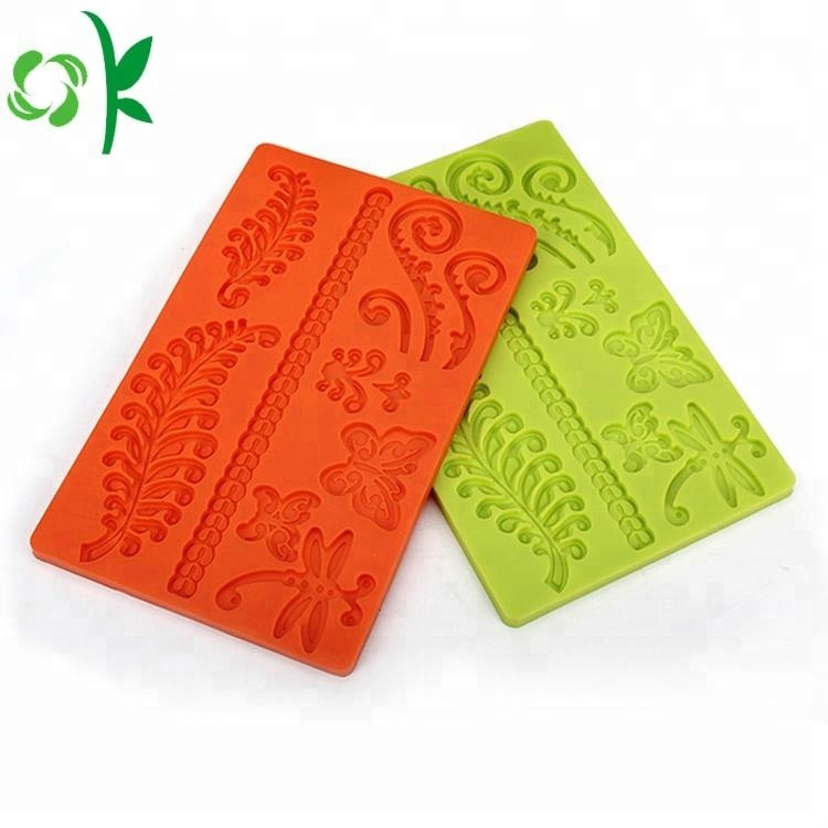 Popular Leaf Shaped Silicone Cake Decorating Tools Cookie Mould Cookie Stamps Chocolate Mould