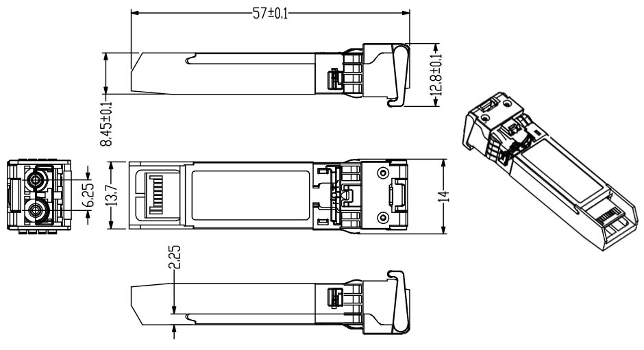 10    20    40    60    80 km fiber optic transceiver 10g copper sfp