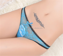 Wholesale very sexy see-through lace ladies panty thongs