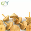 Factory wholesale mini wooden natural color spinning top