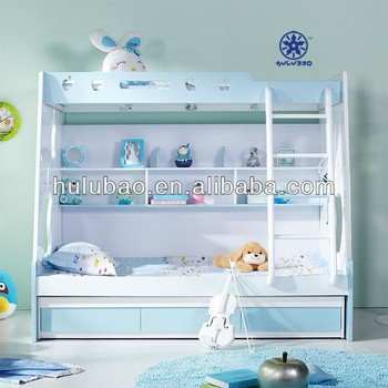 Popular Space Saving Double Bed Design Bunk Child Furniture