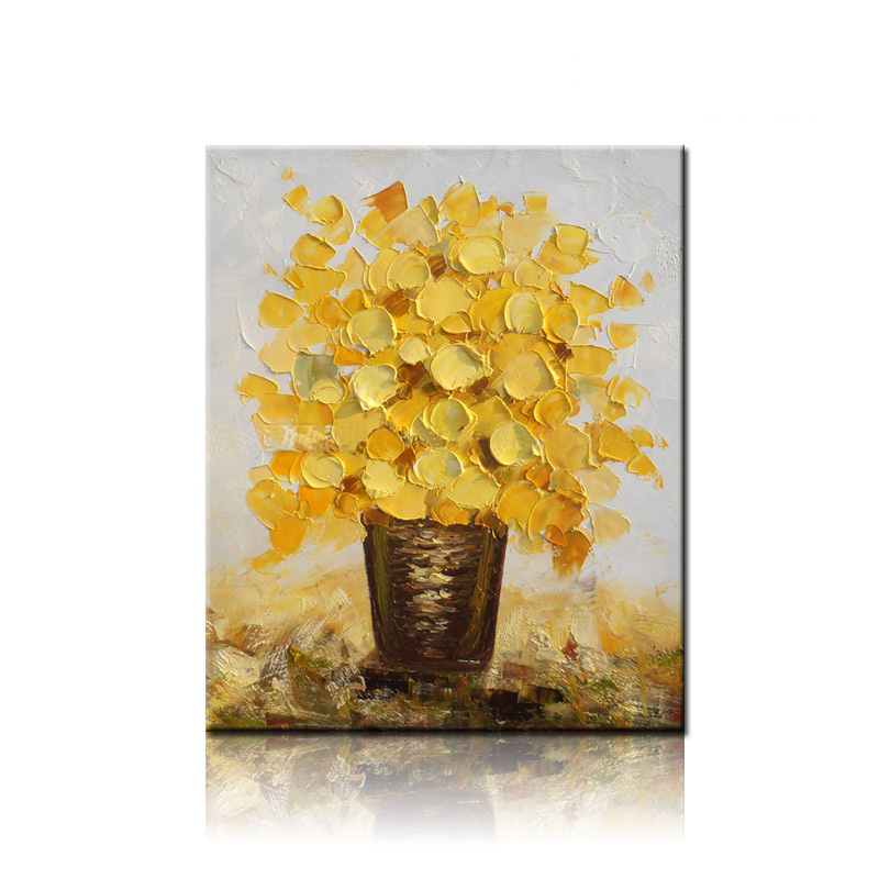 NEW 100% hand-painted canvas oil painting high quality Household adornment art flower pictures Matching framework  DM-15072124