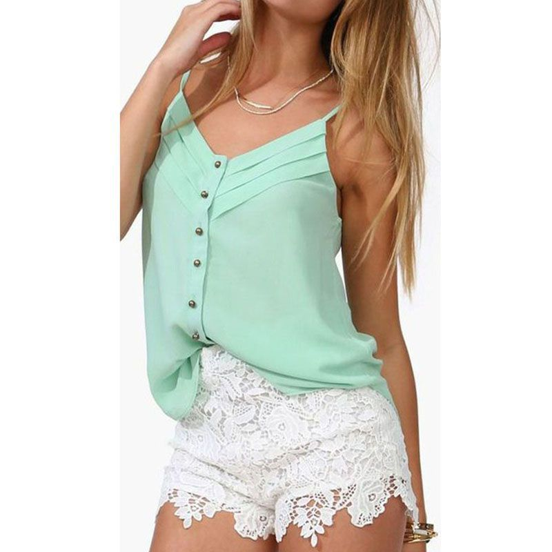 37e80d4f94972 Get Quotations · 2015 Fashion Women  s Tanks Tops Fresh V-Neck Shirts Women  Crop Top