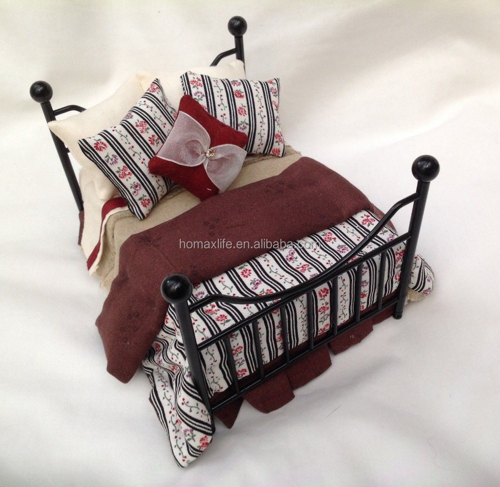 cute black metal doll bed for sale