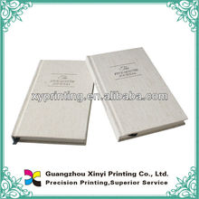 Antique style Linen material cover book printing service