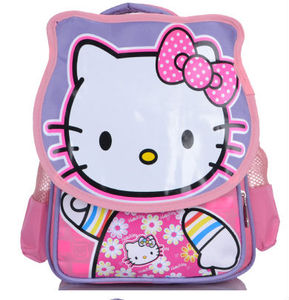 hot sale back bag with Hello Kitty picture ,Kids School Bag For Girls