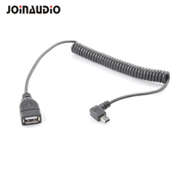 Joinaudio Right Angle Elastic Adapter Mini B Male to USB A Female Host Cable for Digital Cameras(9.5428)