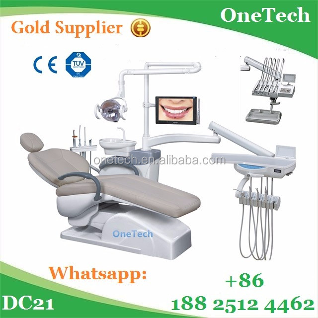 Electric driven imported American tubes dental chair unit / China made economic high quality dental equipment price DC21