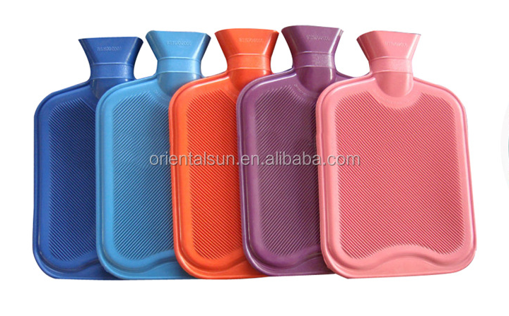 2L BS standard natural rubber hot water bag silicone