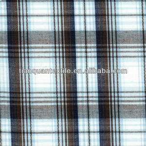 Cotton Yarn dyed plaid fabric 40*40 110*70 57/58""