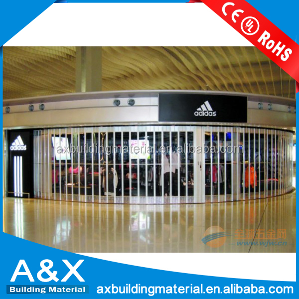 Commercial Exterior Accordion Folding Doors/aluminum commercial folding door/cafe folding door