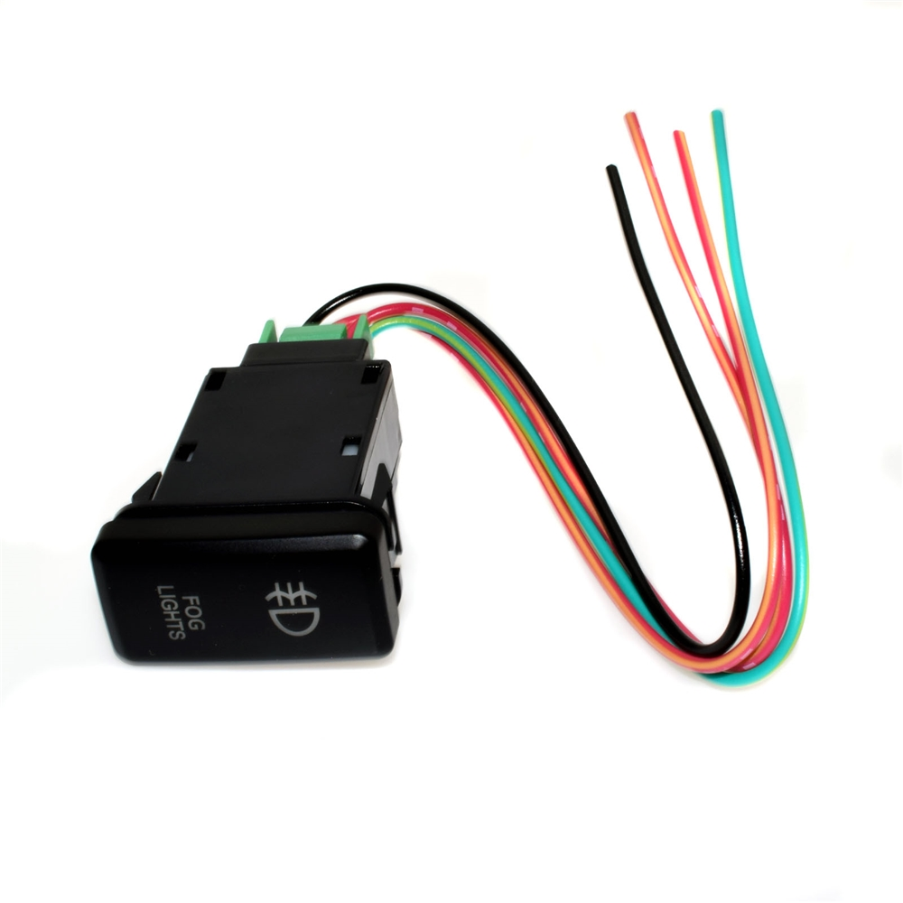12v Push Switch Blue Led Light Fog Light Button With Wire
