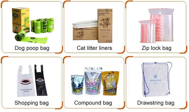 35*19inch Plastic Drawstring Cat Litter Box Liners with 8 pcs PE box