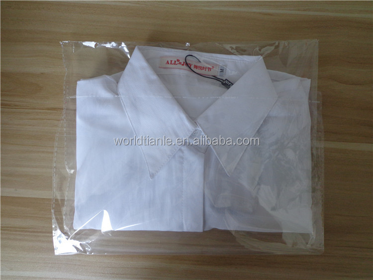 Opp Plastic Garment Bag T Shirt Clear Bags Packaging Clothes