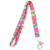 Manufacturer colorful top sale customized design printing sublimation lanyard with metal hook for students no minimum order