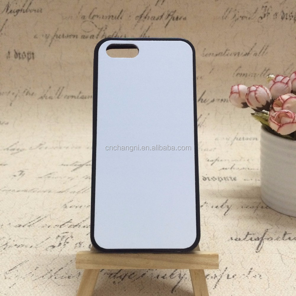 2D sublimation blank phone cover for Iphone 5 TPU with customer's design