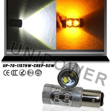 50 W 1157 2357 P21/5 W DUAL COLOR led Switchback Nos Pisca-piscas BRANCO/AMARELO ÂMBAR Leds