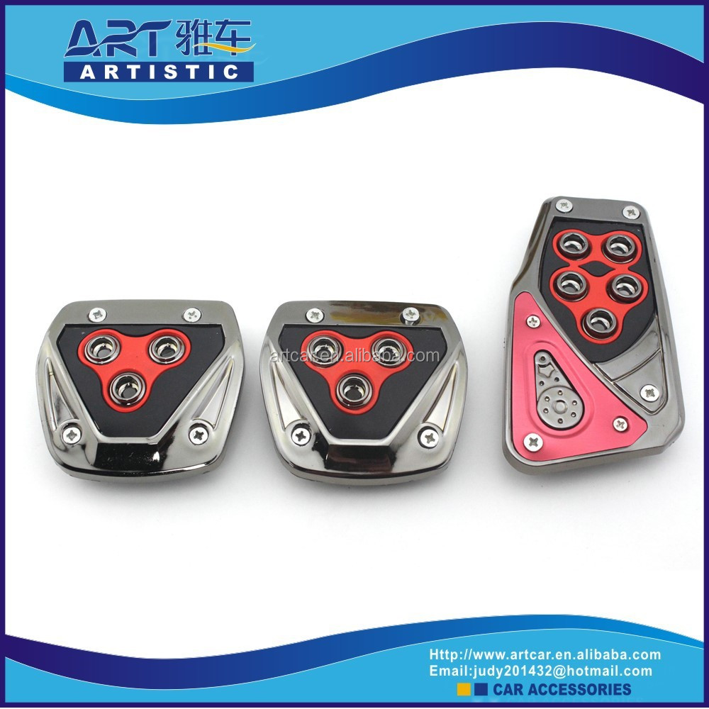 Conjunto de 3 unids aluminio antideslizante del pedal del coche otros accesorios de interior - Accesorios coche interior ...