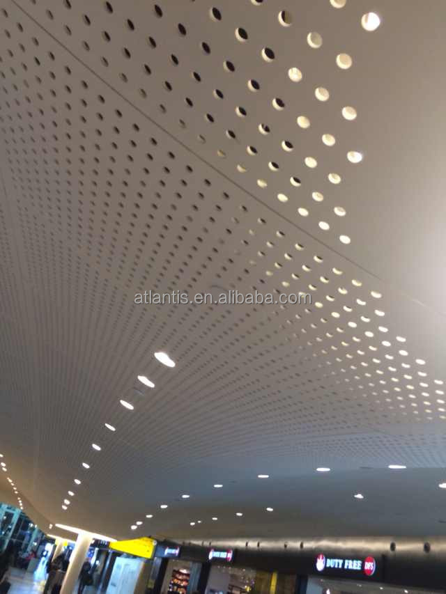 acoustic gypsum ceiling tiles 35/20/12 hole type