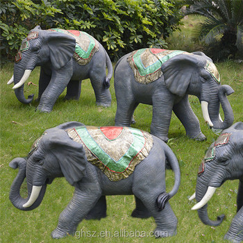 Hot Sale Garden Landscaping Resin Big Elephant Ornaments Statue