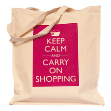 New Printed Keep Calm canvas bag on shopping