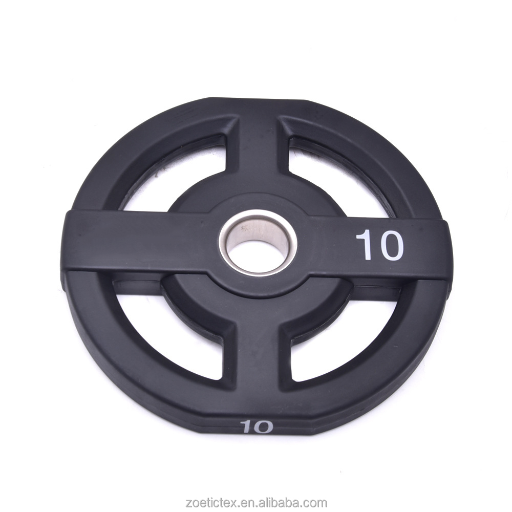 Wholesale durable <strong>weight</strong> plate Gym barbell discs high quality PU barbell plate