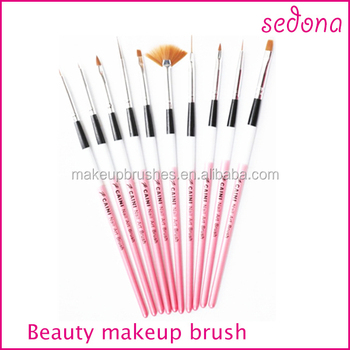10pcs custom logo nail art makeup brush set for gel nailsedona 10pcs custom logo nail art makeup brush set for gel nailsedona beauty cosmetic brush prinsesfo Gallery